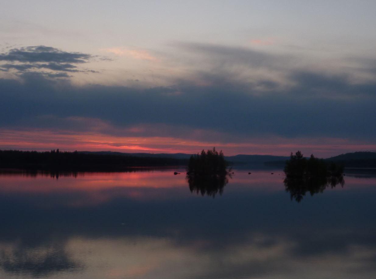 Coucher de soleil - Laponie 2015
